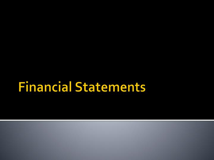 financial statements n.