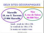 deux sites g ographiques