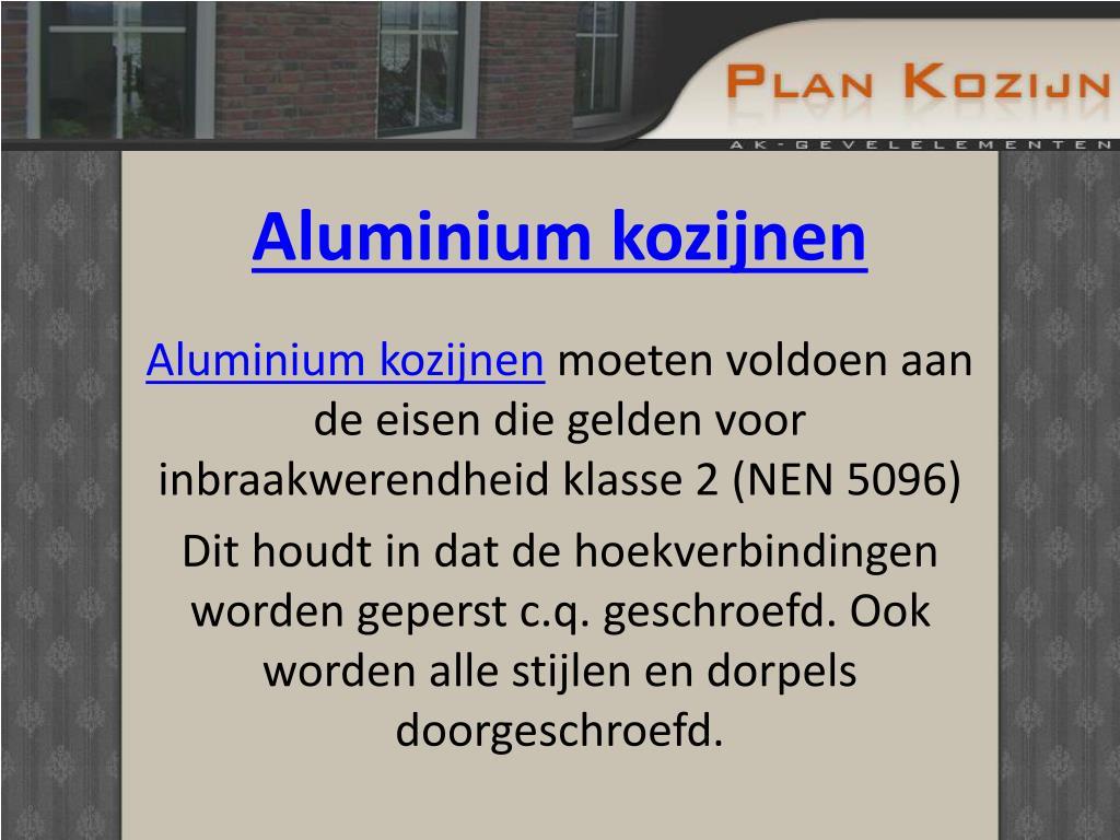 Aluminium kozijnen