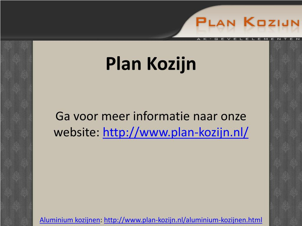 Plan Kozijn