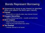 bonds represent borrowing