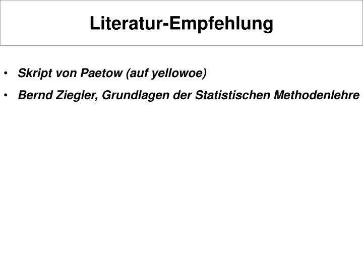 Literatur empfehlung