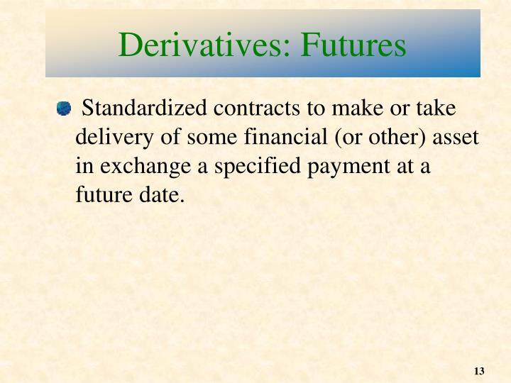 Derivatives: Futures