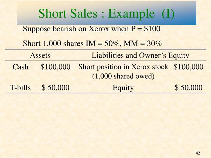 Suppose bearish on Xerox when P = $100