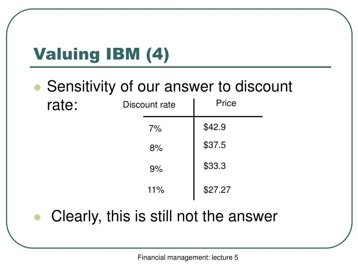 Valuing IBM (4)