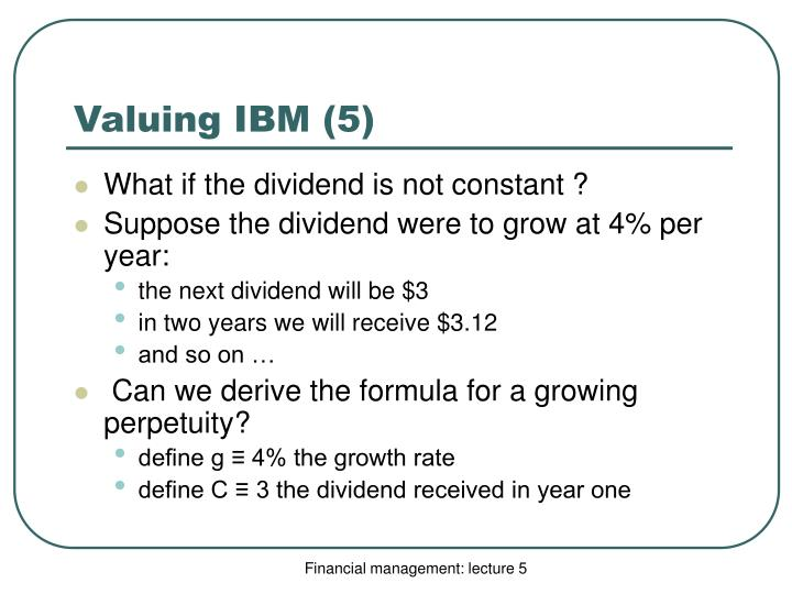 Valuing IBM (5)