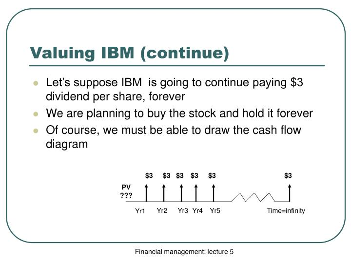 Valuing IBM (continue)