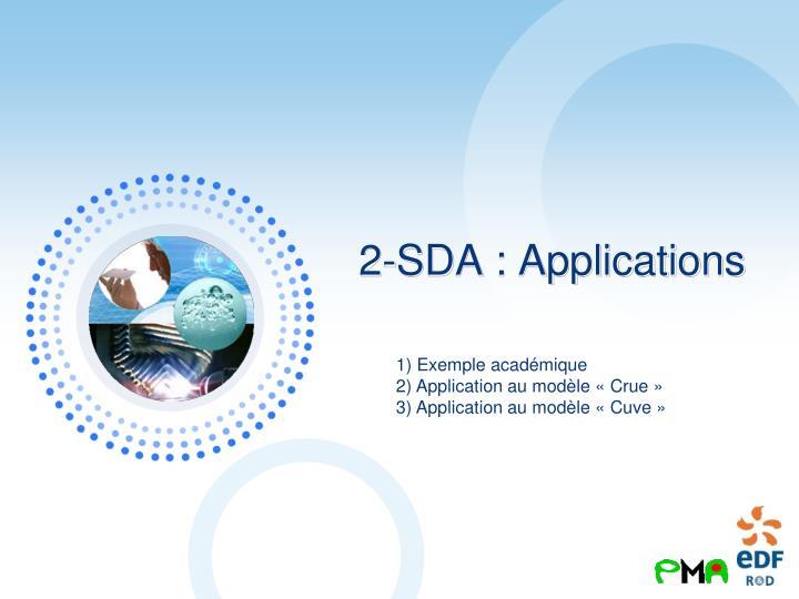 2-SDA : Applications