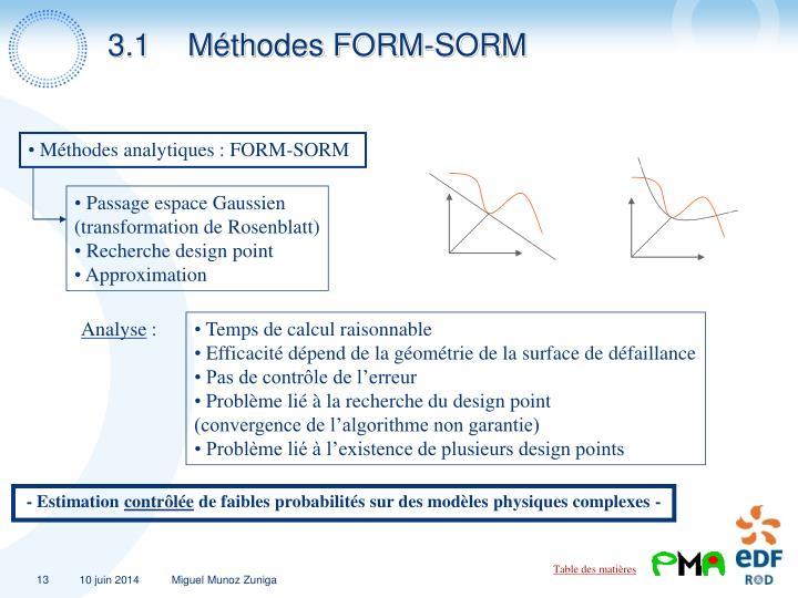 3.1Méthodes FORM-SORM