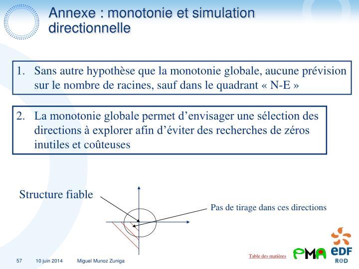 Annexe : monotonie et simulation directionnelle