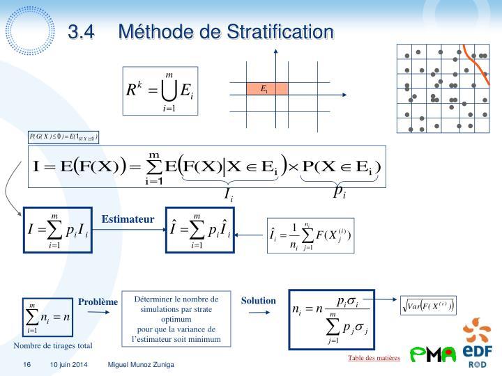 3.4Méthode de Stratification