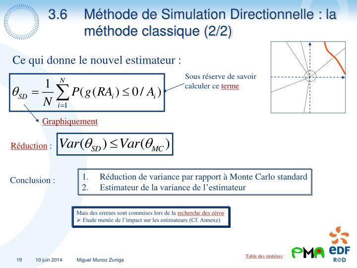 3.6Méthode de Simulation Directionnelle : la méthode classique (2/2)