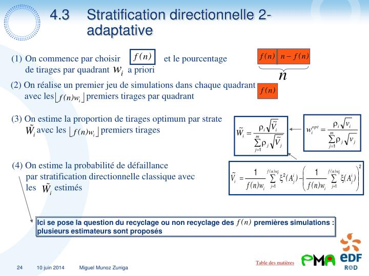 4.3Stratification directionnelle 2-adaptative
