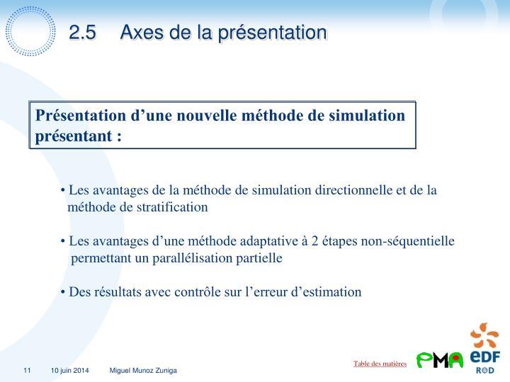2.5Axes de la présentation