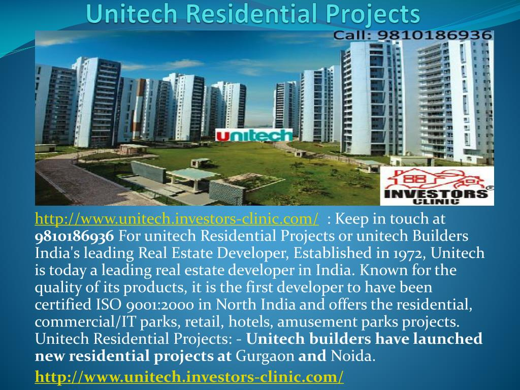 unitech residential projects l.