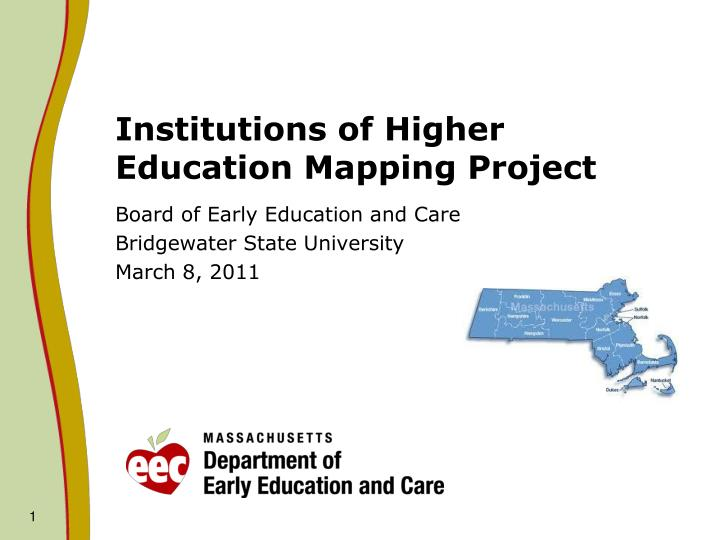 institutions of higher education mapping project n.