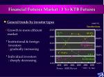 financial futures market 3 yr ktb futures5