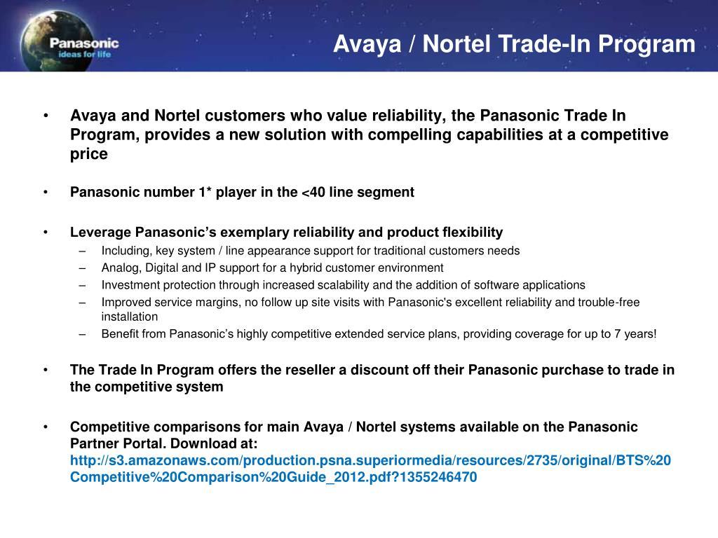 PPT - Panasonic BTS Promotions April – June PowerPoint