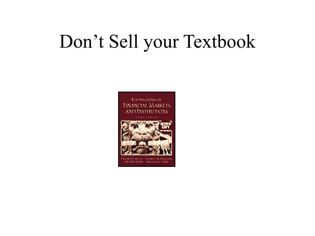 Don't Sell your Textbook