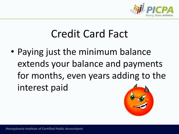 Credit Card Fact