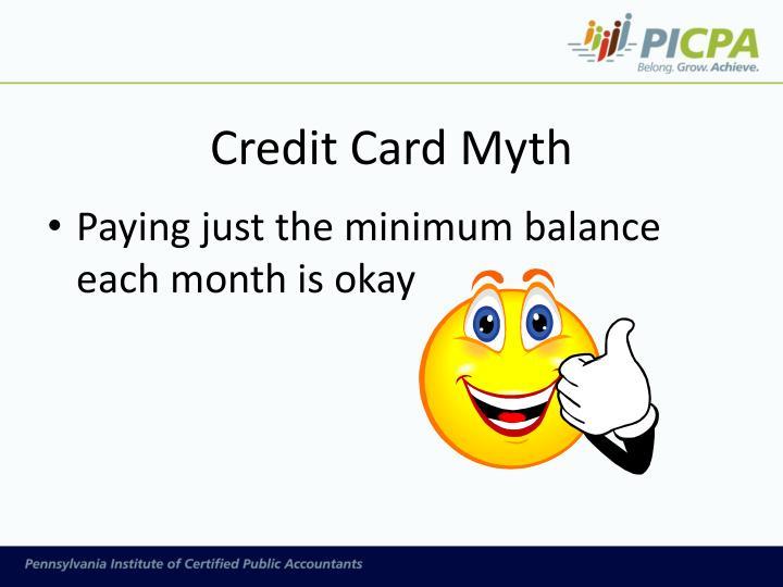 Credit Card Myth