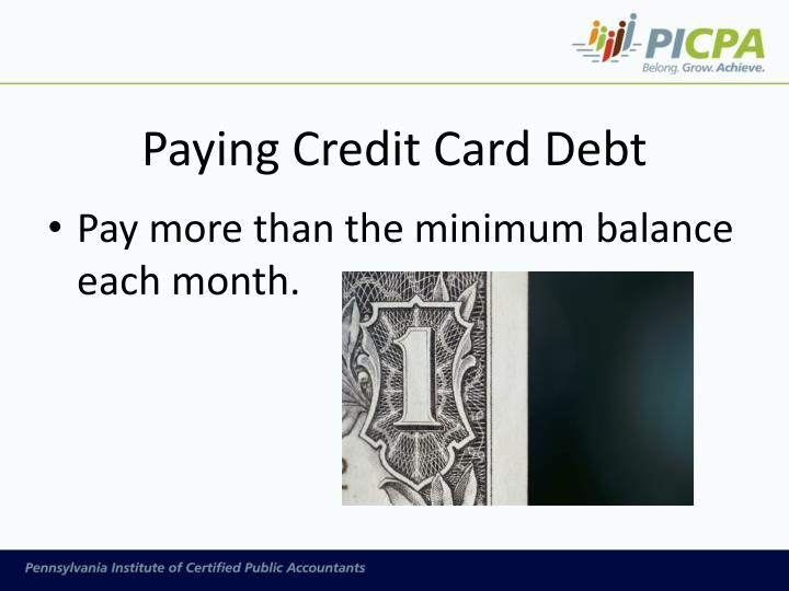 Paying Credit Card Debt