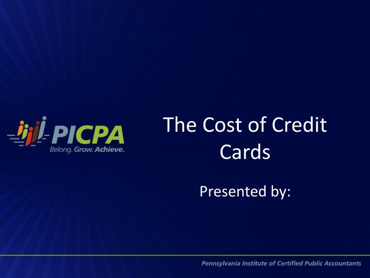 The cost of credit cards