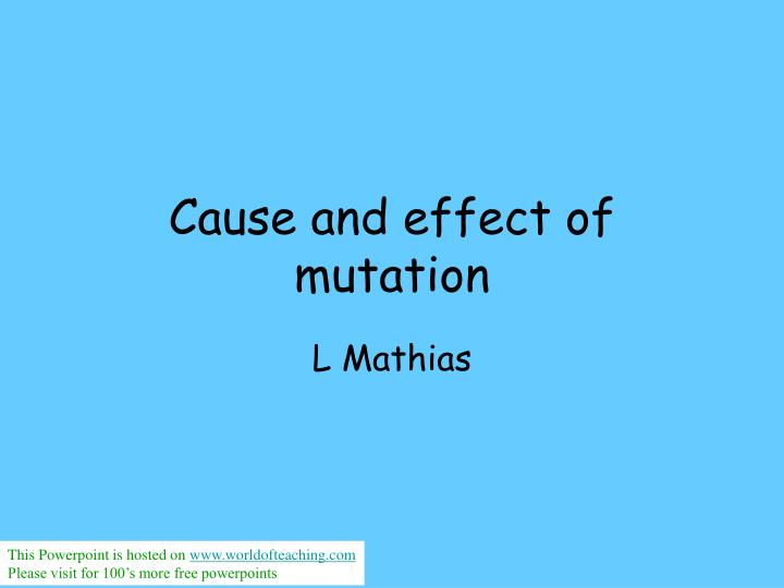 cause and effect of mutation