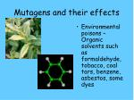 mutagens and their effects2