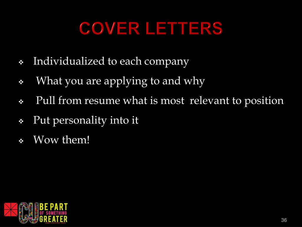 ppt  resume and cover letter writing for employment