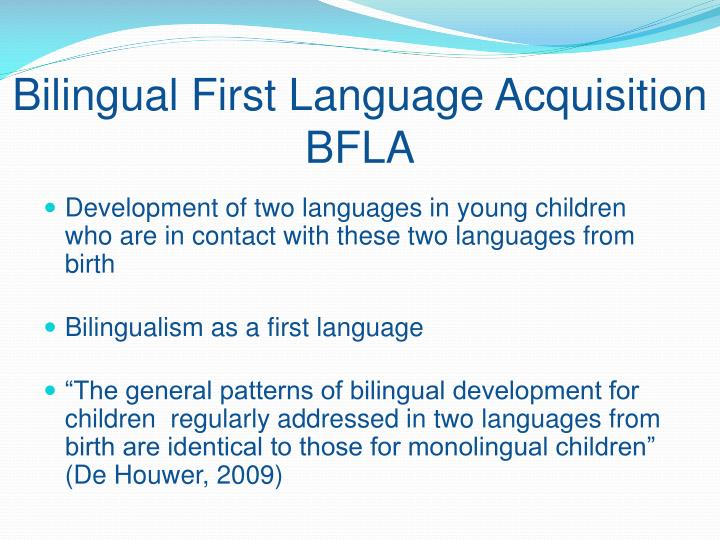bilingual first language development dominant language takeover Milestones in bilingual language acquisition a bilingual's first words may be in one dominant language is the language a bilingual is most skilled at.