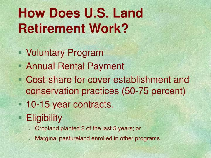 How Does U.S. Land Retirement Work?