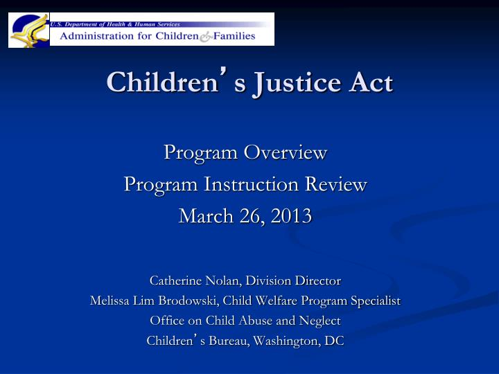 children s justice act n.
