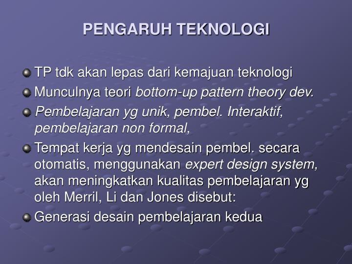 PENGARUH TEKNOLOGI