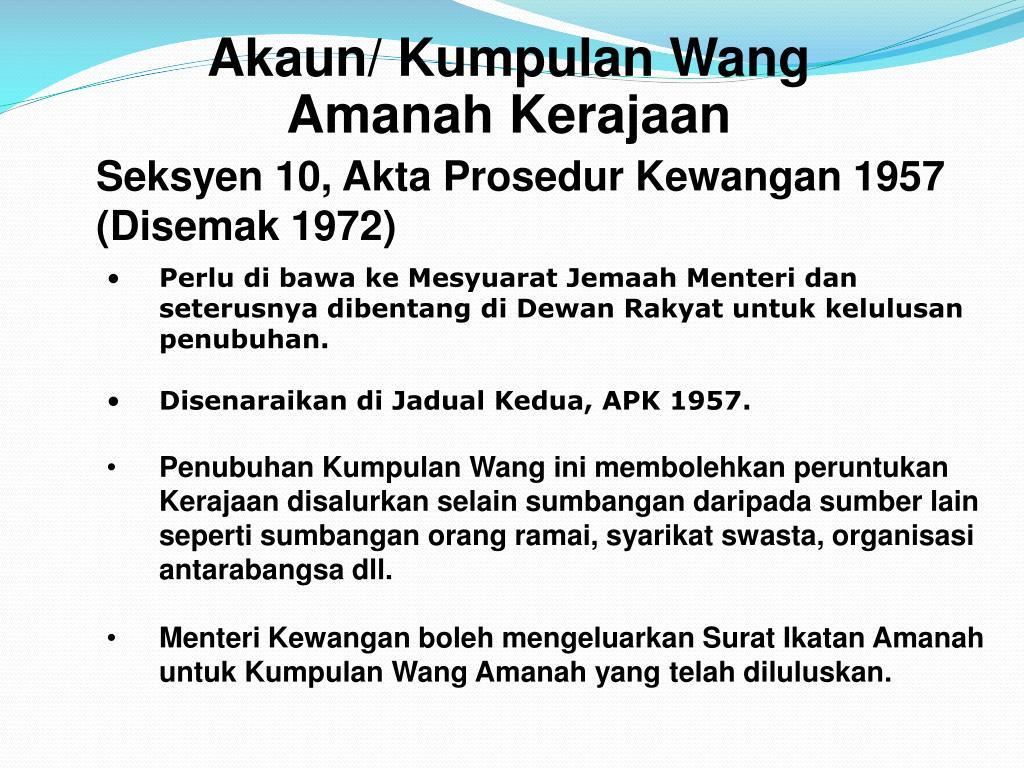 Ppt Pengurusan Akaun Amanah Dan Deposit Powerpoint Presentation Free Download Id 1471447