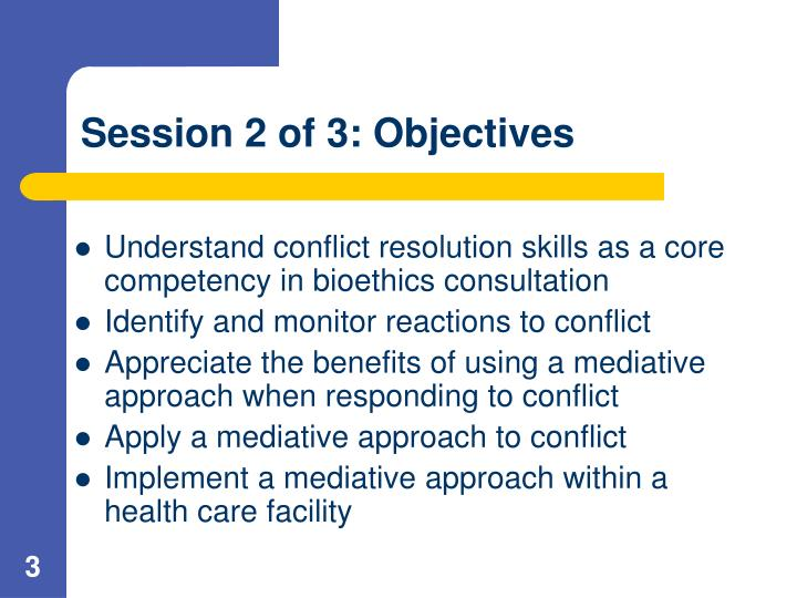 Session 2 of 3 objectives