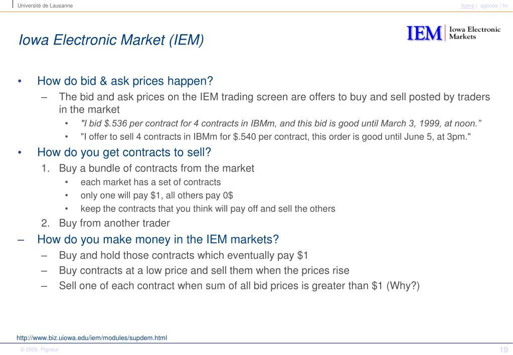 Iowa Electronic Market (IEM)