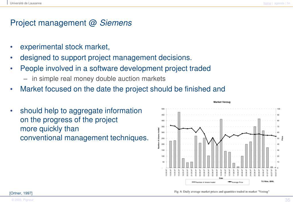 Project management @