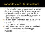 probability and class evidence2
