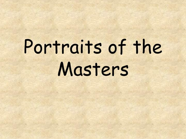 portraits of the masters n.