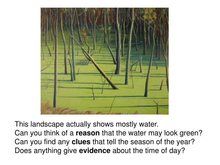 This landscape actually shows mostly water.