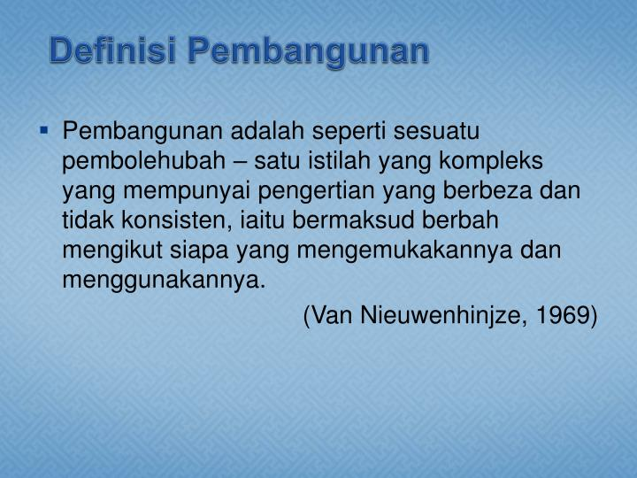 Definisi Pembangunan
