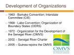 development of organizations