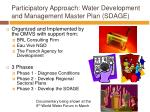 participatory approach water development and management master plan sdage