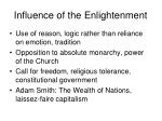 influence of the enlightenment