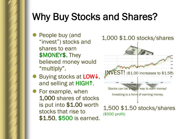 Why buy stocks and shares