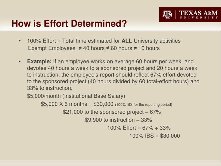 How is Effort Determined?