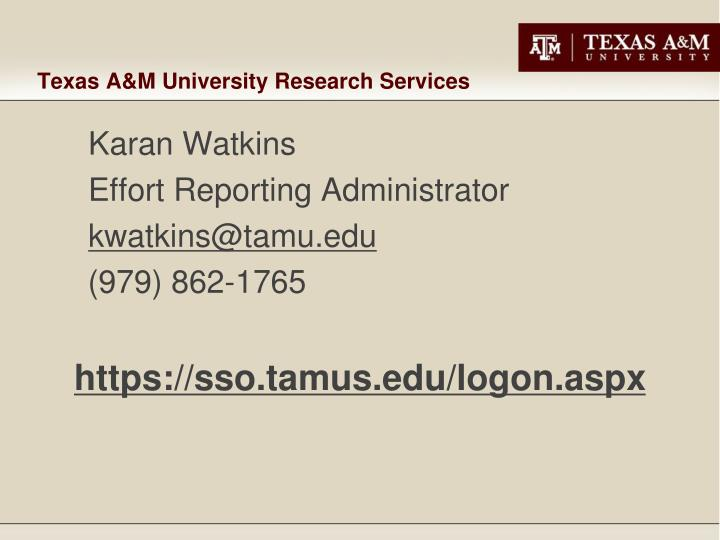 Texas A&M University Research Services