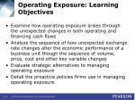 operating exposure learning objectives