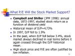 what p e will the stock market support4